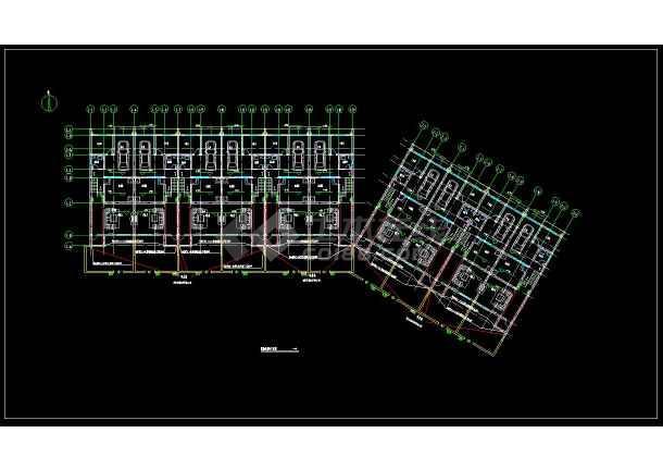 某地联排三层别墅建筑电气设计cad施工图-图1