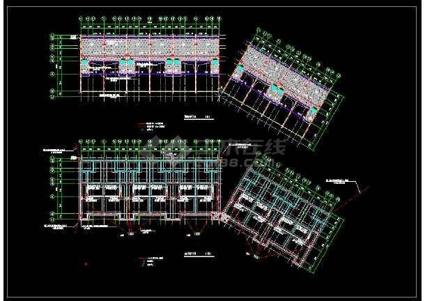 某地联排三层别墅建筑电气设计cad施工图-图2