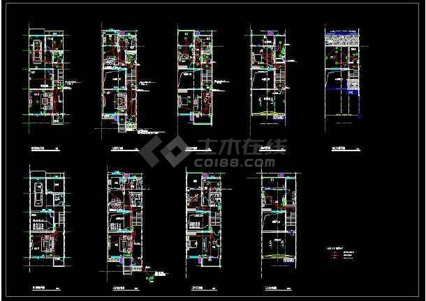 某地联排三层别墅建筑电气设计cad施工图-图3