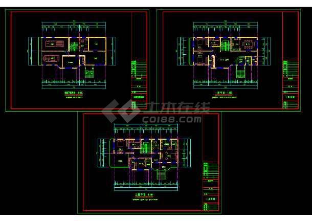 金华某多层别墅cad建筑结构设计施工图-图1