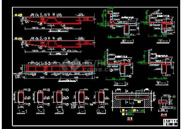 某时尚三层别墅cad设计建筑结构图带效果图-图1