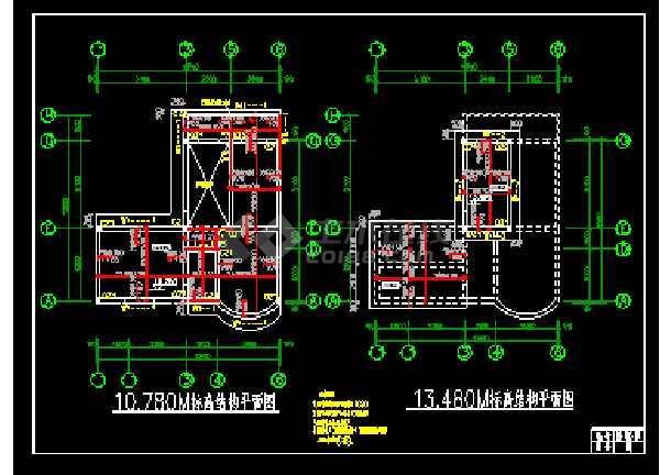 某时尚三层别墅cad设计建筑结构图带效果图-图2