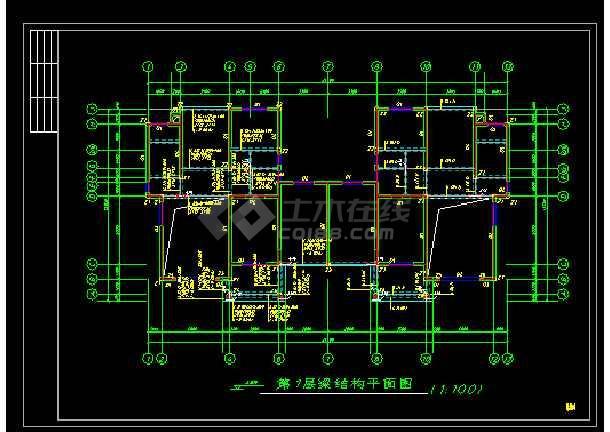 某经典时尚别墅cad建筑结构施工图-图1