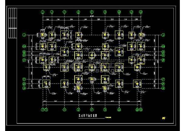 某经典时尚别墅cad建筑结构施工图-图2