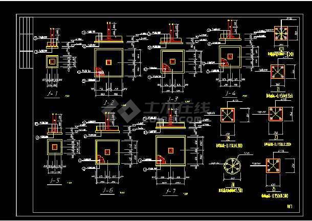 某经典时尚别墅cad建筑结构施工图-图3