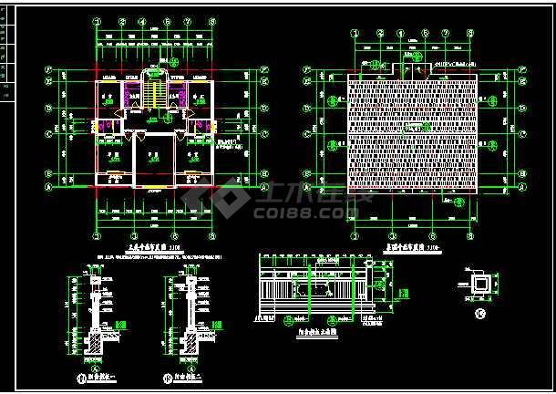 某地方农村别墅建筑图施工CAD图纸-图1
