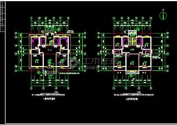 某地方农村别墅建筑图施工CAD图纸-图2