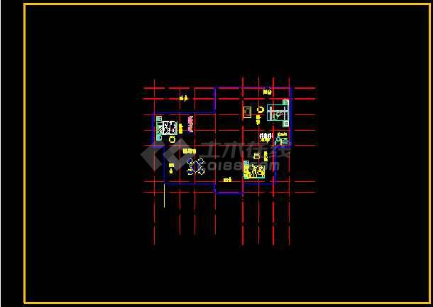 某市某小区小别墅设计方案CAD图纸-图3