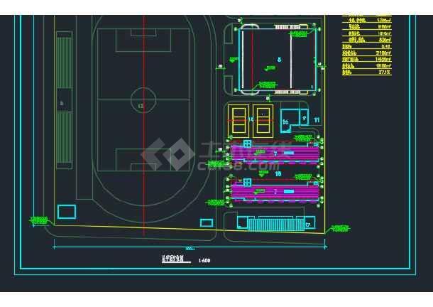 比较详细的某地学校建筑规划CAD定位图-图2