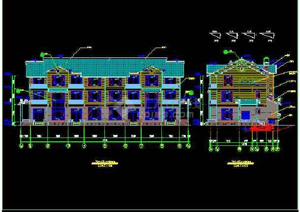 某地方西湖别墅单体全套设计CAD图纸-图1