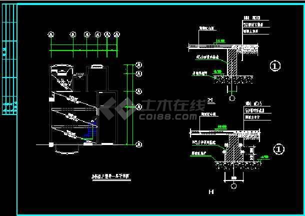 某小区某别墅样板房竣工图建设CAD图纸-图2