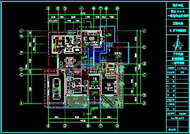 某区三层日式别墅全套建筑施工图CAD图纸-图1