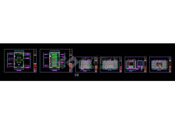 点击查看某大型川味餐饮火锅店cad室内装修图第2张大图