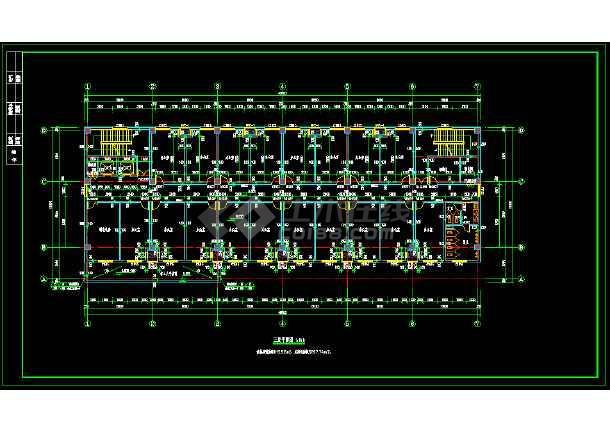 生产车间空调暖通cad施工图纸(含电气)-图2