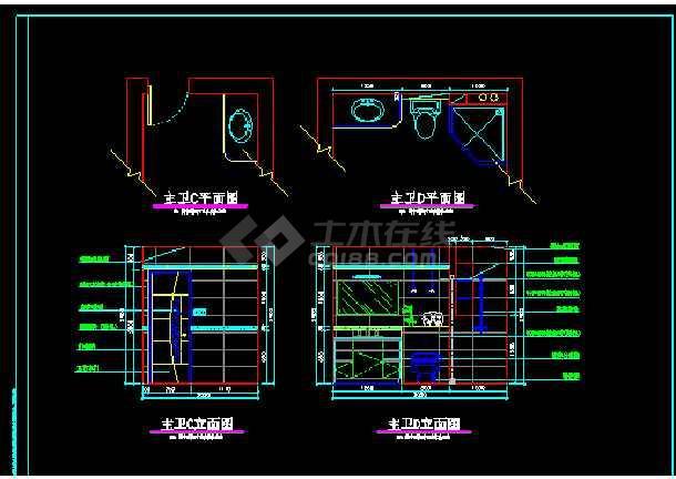 某小区阳光别墅方案设计图CAD图纸-图1