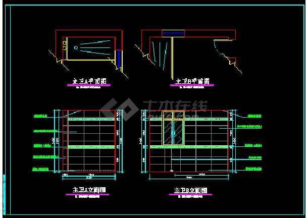 某小区阳光别墅方案设计图CAD图纸-图2