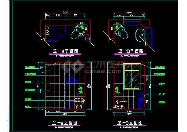 某小区阳光别墅方案设计图CAD图纸-图3
