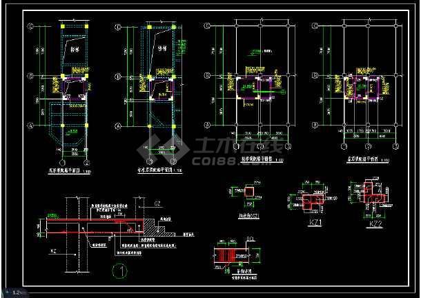 点击查看电梯井加固改造结构施工图(含设计说明)第2张大图