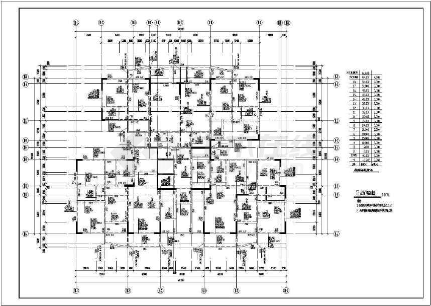某地大型地上18层框剪结构设计图纸-图3