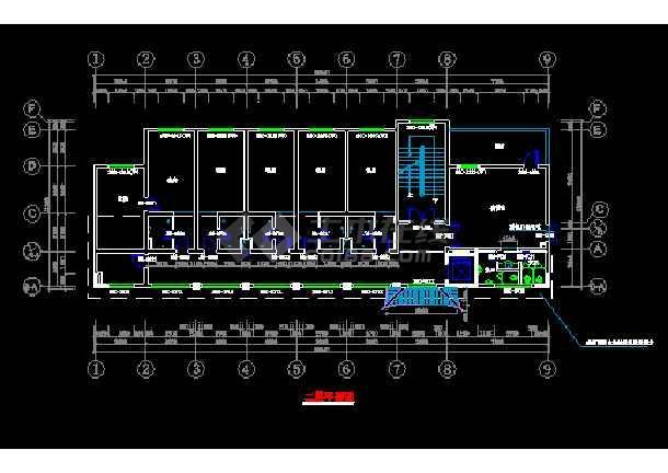 某市宏声大酒店建筑结构CAD施工设计图纸-图3
