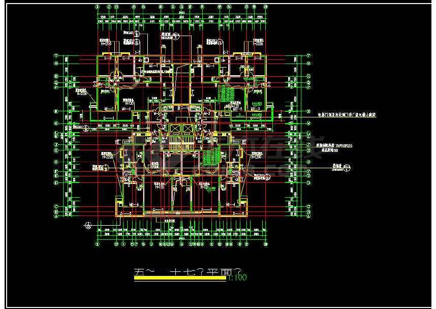 某地高层住宅楼建筑cad施工图纸(含设计说明)-图3