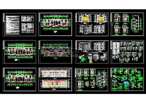 点击查看2018最新精选350多套新农村自建房样板房住宅别墅建筑设计CAD资料合集第2张大图