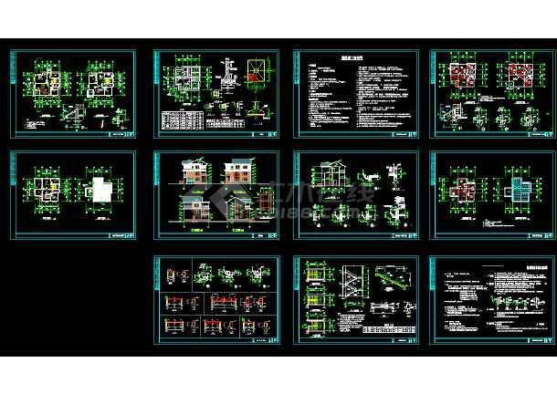 2018最新精选350多套新农村自建房样板房住宅别墅建筑设计CAD资料合集-图2