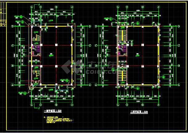 某地四层乡镇私宅建筑cad施工图(共4张)-图3