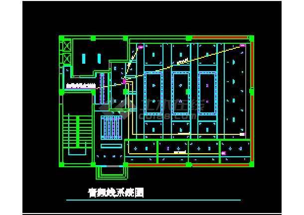 某市咖啡厅电气工程系统设计cad总图-图2