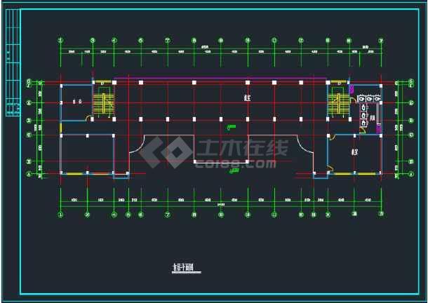 比较详细的某地教学楼建筑方案设计图-图2