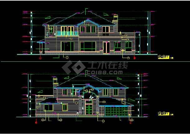 一套实用的别墅建筑结构图(含设计说明)-图1