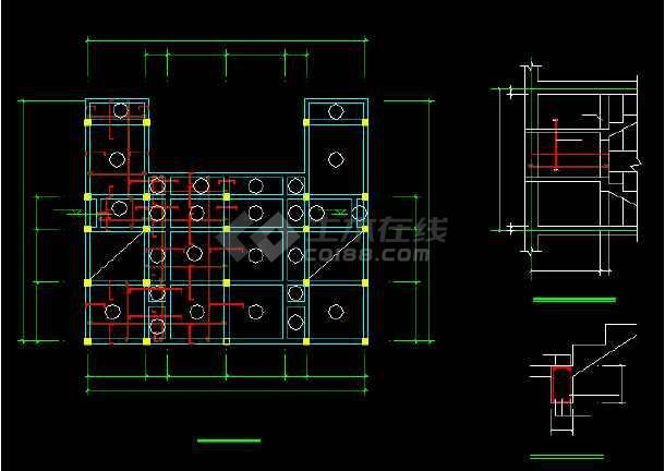 一套比较详细的别墅建筑结构图纸(含实景照片)-图1