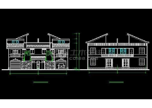 一套比较详细的别墅建筑结构图纸(含实景照片)-图2