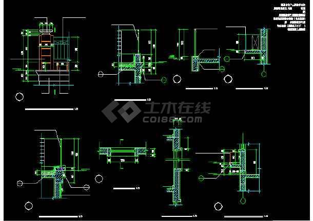 一套经典的四层别墅建筑结构图纸(共11张)-图1