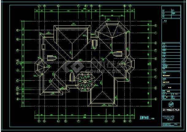 某地多层豪华型别墅建筑给排水设计CAD施工图(含设计说明)-图2