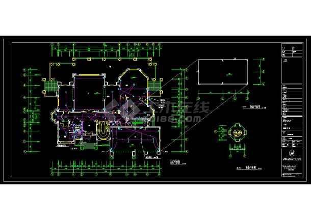 某地大型豪华别墅建筑电气设计cad施工图(含设计说明)-图1