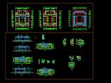 某地仿古建筑施工设计CAD详细图纸图片1