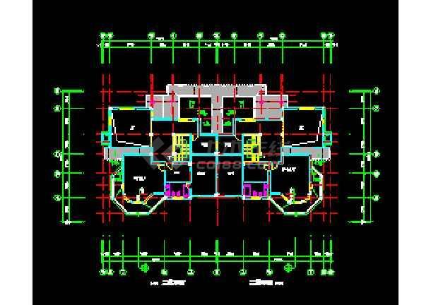 某山庄别墅建筑CAD施工设计平面图纸-图1