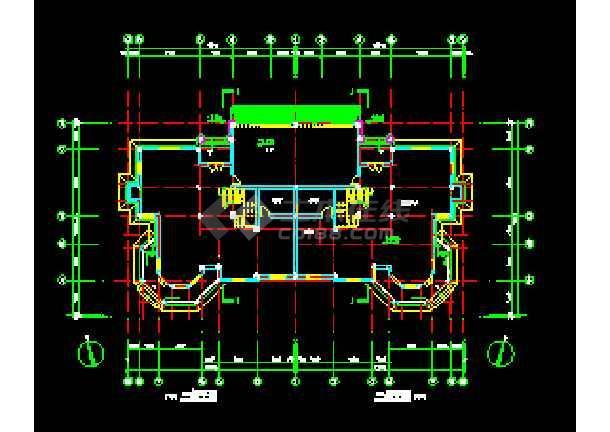 某山庄别墅建筑CAD施工设计平面图纸-图3