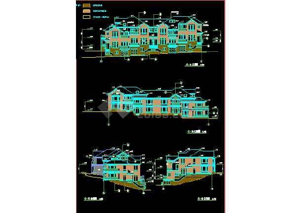 杭州27套独立山地别墅CAD建筑设计施工图纸-图1