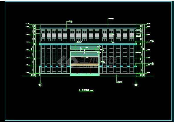 某职业技术学院建筑全套施工设计图纸-图3