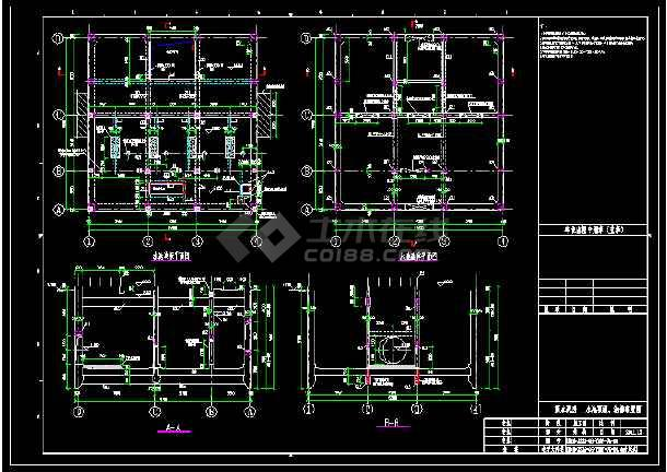 码头雨水泵房混凝土沉井结构施工图 -图2