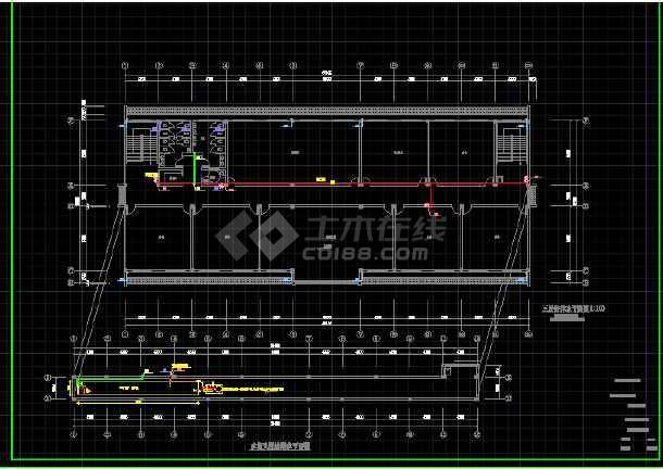 某城镇配套用房(文化中心)施工图--给排水-图2