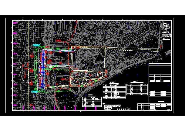 江西某通用码头工程施工全套CAD图-图1