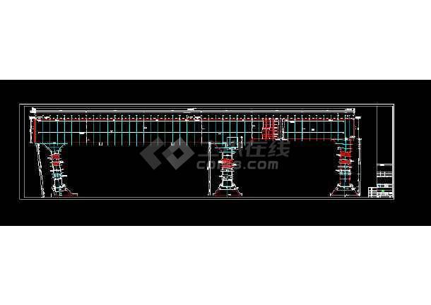 江西某通用码头工程施工全套CAD图-图3