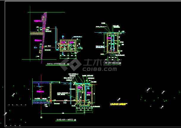 消防水池配套室外取水井给排水、结构大样图-图1