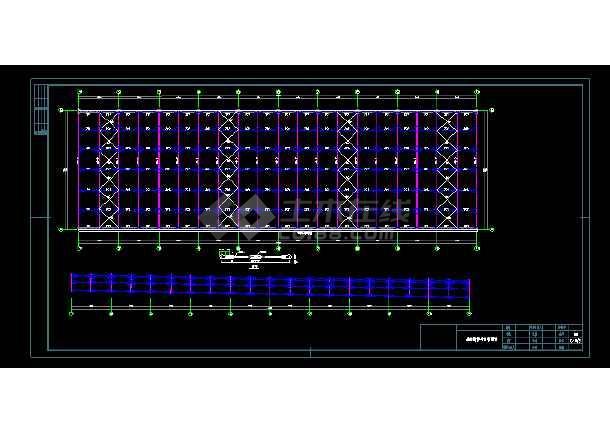 某煤场防尘环保技改工程结构设计图 -图1