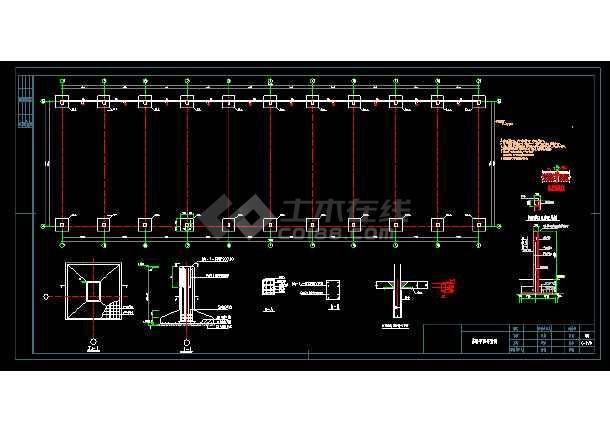 某煤场防尘环保技改工程结构设计图 -图3
