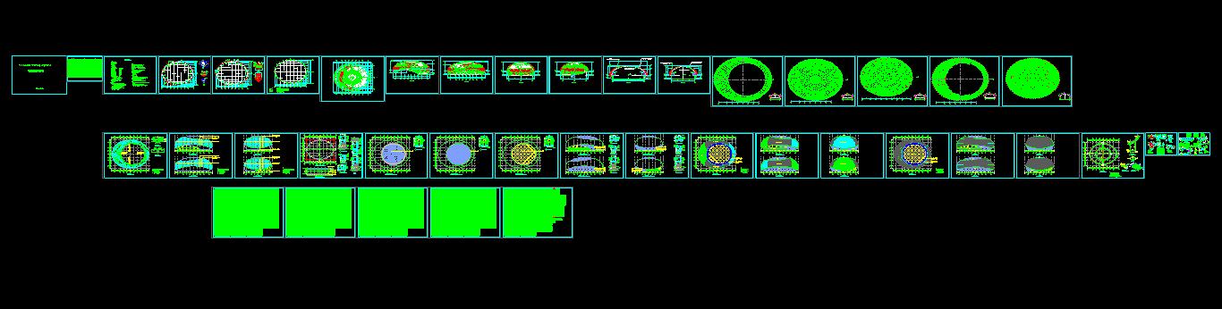 某综合文体活动中心门式刚架结构施工图图片1