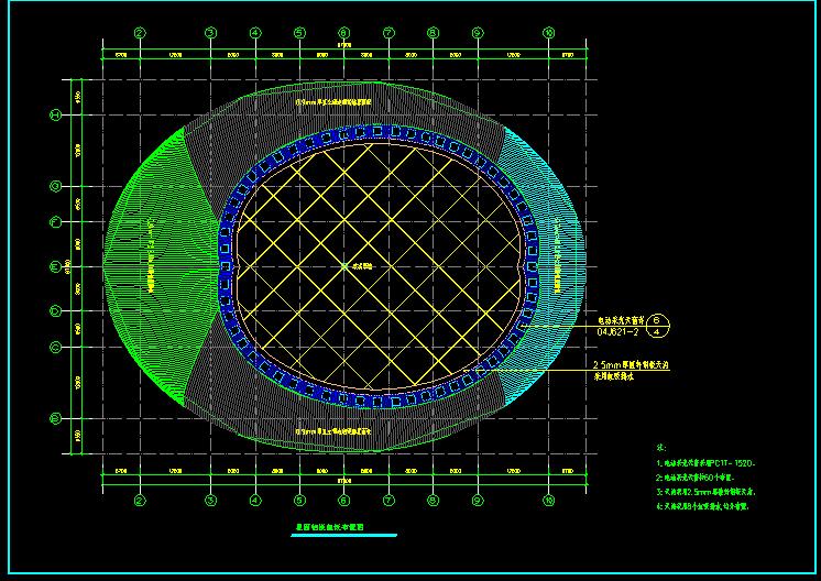 某综合文体活动中心门式刚架结构施工图图片2